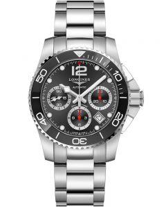 Longines Mens HydroConquest Automatic Chronograph Black Dial Bracelet Watch L37834566