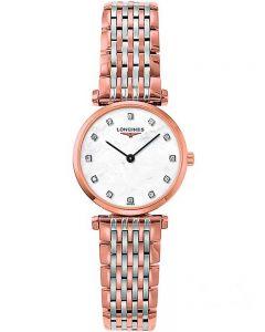Longines Ladies La Grande Classique Diamond Set Mother Of Pearl Dial Two Colour Bracelet Watch L42091977