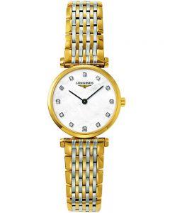 Longines Ladies La Grande Classique Diamond Set Mother of Pearl Dial Two Colour Bracelet Watch L42092877