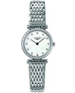 Longines Ladies La Grande Classique Diamond Set Mother of Pearl Dial Bracelet Watch L42410806