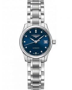 Longines Ladies Master Diamond Set Blue Dial Bracelet Watch L21284976