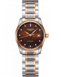 Longines Ladies Master Diamond Set Brown Dial Two Colour Bracelet Watch L22575677