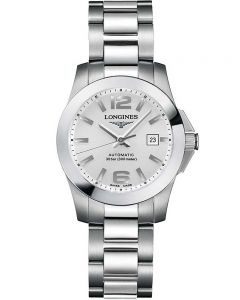 Longines Ladies Conquest Sunray Silver Dial Bracelet Watch L32764766