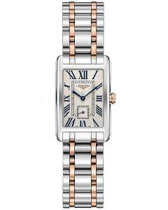Longines Ladies DolceVita Silver Dial Two Colour Bracelet Watch L52555717