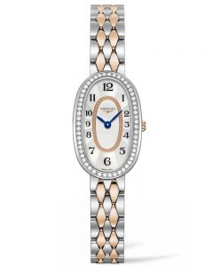 Longines Ladies Symphonette Diamond Set Mother Of Pearl Dial Two Colour Bracelet Watch L23055887