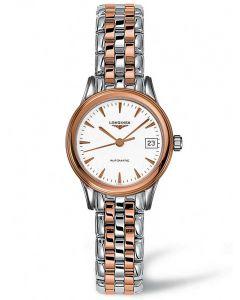 Longines Ladies Flagship White Dial Two Colour Bracelet Watch L42743927