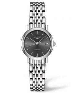 Longines Ladies Elegant Sunray Grey Dial Bracelet Watch L43094726