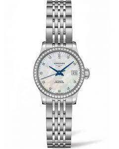 Longines Ladies Record Diamond Set Mother Of Pearl Dial Bracelet Watch L23200876