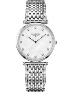 Longines Ladies La Grande Classique Diamond Set Mother of Pearl Bracelet Watch L47094886