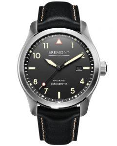 Bremont SOLO Cream on Black Dial Strap Watch SOLO/CR