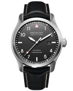 Bremont SOLO White on Black Dial Strap Watch SOLO/WH