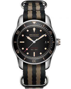 Bremont Mens Supermarine S302 Watch S302-BK-NATO-R-S