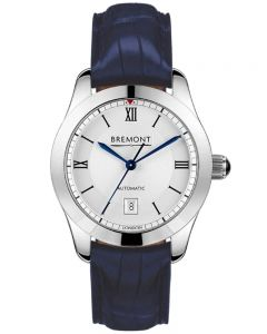 Bremont SOLO-32 LC White Dial Blue Alligator Strap Watch SOLO-32-LC/WH