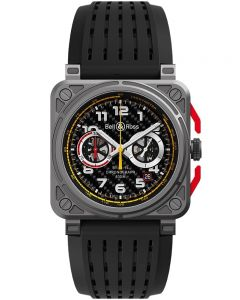 Bell & Ross Mens Instruments Chronograph Automatic Watch BR0394-RS18