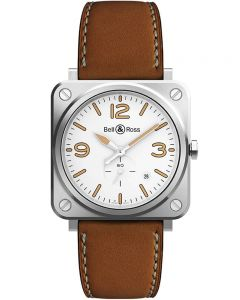 Bell & Ross Mens Instruments Steel Heritage Watch BRS-WHERI-ST/SCA