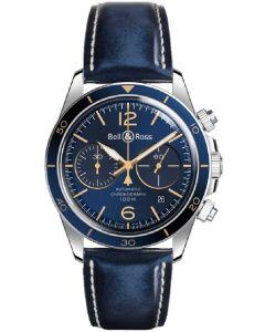 Bell & Ross Mens Vintage Aeronavale Blue Watch BRV294-BU-G-ST/SCA