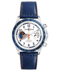 Bell & Ross Mens Vintage Racing Bird Limited Edition Strap Watch BRV294-BB-ST/SCA