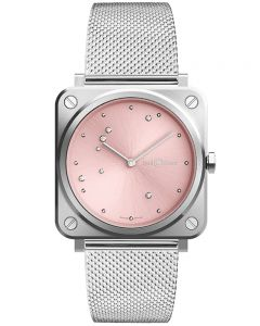 Bell & Ross Ladies Instruments Pink Diamond Eagle Watch BRS-EP-ST/SST