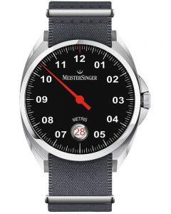 MeisterSinger Mens Metris Automatic Fabric Strap Watch ME902