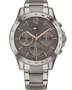Tommy Hilfiger Haven Stainless Steel Rose Gold Chronograph Dial Gun Metal Bracelet Watch 1782196