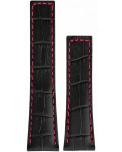 TAG Heuer Carrera Black and Red Alligator Watch Strap FC6237