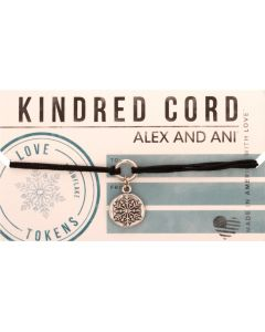 ALEX AND ANI Love Token Snowflake Kindred Cord Bracelet A16KC33RS