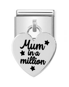 Nomination CLASSIC Composable Limited Edition Silver Heart Pendant Mum In A Million Charm 331811/02