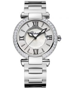 Chopard Imperiale Silver Diamond Bezel Bracelet Watch 388532-3004