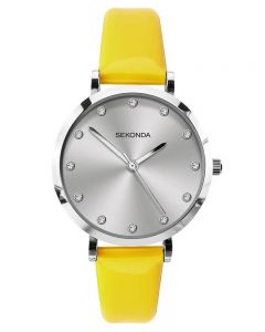 Sekonda Ladies Neon Yellow Strap Watch 40010
