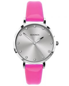 Sekonda Ladies Neon Pink Strap Watch 40012