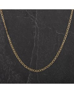 """Second Hand Yellow Gold 16"""" Fine Curb Chain 4101363"""