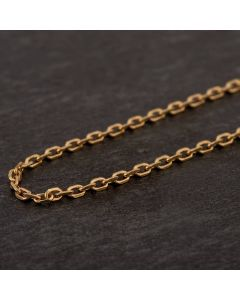 Second Hand 9ct Yellow Gold Fine Trace Chain Necklace