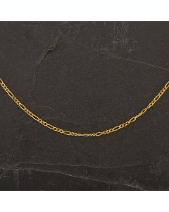 """Second Hand 9ct Yellow Gold 18"""" Figaro Necklace"""