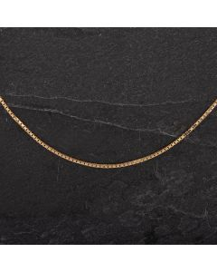 Second Hand 9ct Yellow Gold 18 Inch Box Link Chain