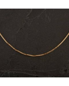 """Second Hand 9ct Yellow Gold 18"""" Boxlink Necklace"""