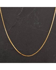 "Second Hand 9ct Yellow Gold 15"" Square Link Necklace"