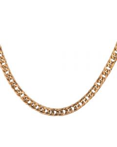 Second Hand 9ct Yellow Gold Double Curb Chain Necklace