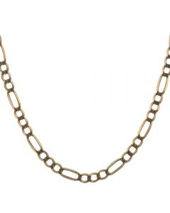 Second Hand 9ct Yellow Gold 22 Inch Figaro Chain Necklace