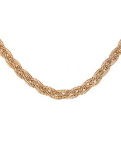 "Second Hand 9ct Yellow Gold 18"" Plaited Necklace C605078(454)"