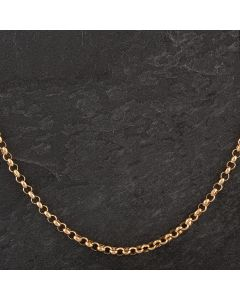 "Second Hand 9ct Yellow Gold 26"" Belcher Necklace"