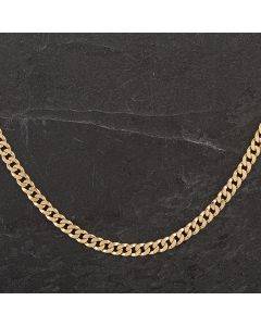 """Second Hand 9ct Yellow Gold 22"""" Close Curb Chain"""