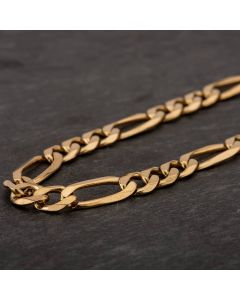 "Second Hand 9ct Yellow Gold 18"" Figaro Chain HGM40/01/12(08/19)"