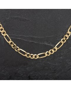 "Second Hand 9ct 20"" Yellow Gold Figaro Necklace"