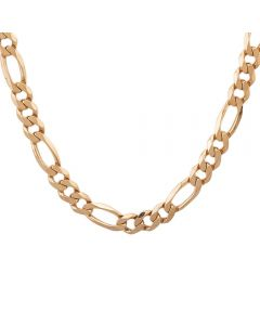 """Second Hand 9ct Yellow Gold 22"""" 3+1 Figaro Chain HGM42/03/04(09/19)"""