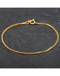Second Hand 9ct Yellow Gold Chain Foxtail Bracelet 4106258