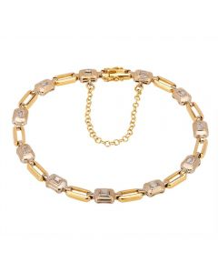 Second Hand 18ct Two Colour Gold Diamond Bracelet