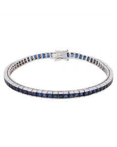 Second Hand Square Cut Sapphire Tennis Bracelet