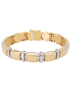 Second Hand 18ct Two Colour Gold Bracelet