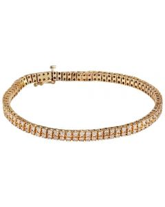 Second Hand 4.00ct Two Row Diamond Tennis Bracelet