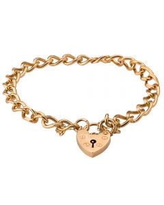 Second Hand 9ct Yellow Gold Curb Chian Bracelet